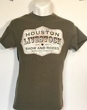 ~ MEN'S SMALL TEE SHIRT [HOUSTON LIVESTOCK AND RODEO] GRAPHIC SHORT SLEEVE