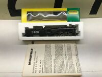 Minitrix N Scale 4-6-2 Pacific ATSF Santa Fe Powered Steam Locomotive #3420 NOS