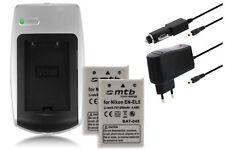 Chargeur+2x Batterie EN-EL5 ENEL5 pour Nikon Coolpix 5900, 7900, P3, P4, P80, P9