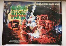A Nightmare on Elm Street 2 - Freddy's Revenge - original UK quad poster