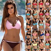 Sexy Women Summer Swimwear Bikini Sets Bra Tops Swimsuit Bathing Suit Beachwear
