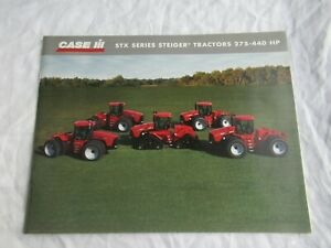 Case CASEIH STX 275 325 375 440 STX series Steiger tractor brochure 36 pages