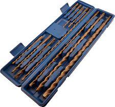 11pc SDS Masonary Hammer Drill Bits Set Tungsten Carbon Tip bit kit + Case