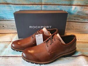 ROCKPORT Mens Colben Smart Formal Trutech Shoes Brown BNIB UK Size 10. V82368.