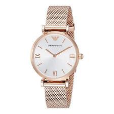 5cb03b28b8fa Emporio Armani AR1956 Retro Plata Dial Oro Rosa Tono Cronógrafo Reloj Para  Mujer