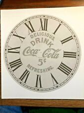 "7 Inch ""Coke a Cola"" Paper Clock Replacemnet Dial     Lot 170"