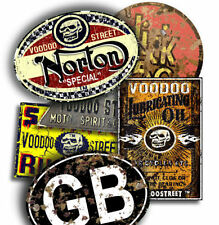 NORTON GB RAT STICKER PACK BY VOODOO STREET™,waterproof vinyl, quality, Oily Rag