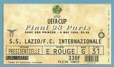 TICKET  FINAL UEFA CUP  LAZIO ROMA - INTER MILANO  6/5/1998