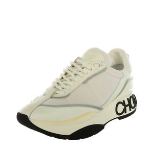 RRP€415 JIMMY CHOO RAINE Sneakers EU41 UK8 US11 Contrast Leather Made in Italy