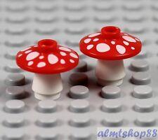 Minifig Food /& Drink LEGO Mushroom w// Spots Pattern Red
