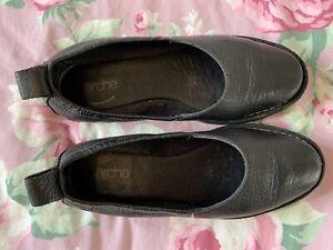 Arche Black leather Pull On Shoes/pumps EU 39 UK 6
