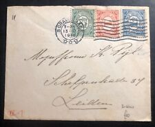 1916 The Hague Netherlands cover to Leiden Germany