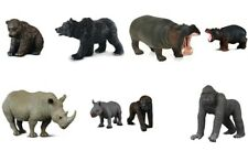 New CollectA Wild Animals Collection Hippo Rhino Gorillo Bear Toy Model Figures