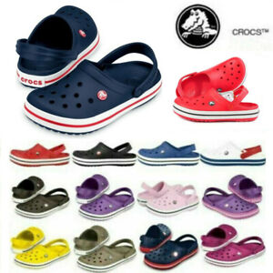 Crocs 11016 CROCBAND Unisex Mens Womens Comfy Breathable slip on Casual Clogs