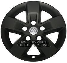 "4 BLACK Dodge Ram 1500 Truck 17"" Wheel Skins Hub Caps 5 Spoke Alloy Rim Covers M"