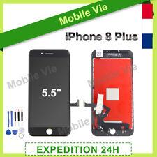 ECRAN VITRE TACTILE + LCD RETINA SUR CHASSIS POUR IPHONE 8 PLUS NOIR + OUTILS