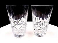 """WATERFORD CUT CRYSTAL SIGNED 2 PC ROSSLARE 5"""" FLAT TUMBLERS 1968-2017"""