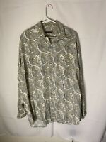 Men's Stetson Paisley Button Down Western Cowboy Long Sleeve Shirt Size 2XL