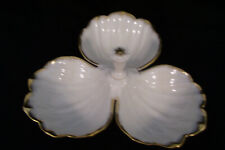 Vintage Lenox Triple Gold Rimmed Clover Leaf Candy/Condiment Dish