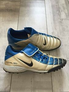 Nike Total 90 Indoor Football Soccer Shoes Cleats Blue Gray US10 UK9 EUR44 RARE