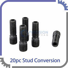 20pc Black Stud Conversion   14x1.5 to 12x1.5   for Audi VW Volkswagen Cars