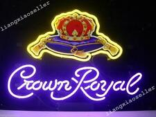 17X14 New Crown Royal Whisky Real Neon Sign Beer Bar Pub Light Free Shiping