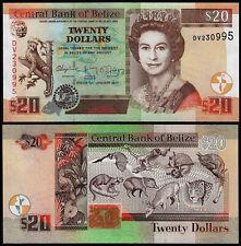 BELIZE 20 DOLLARS (P69f) 2017 QEII UNC