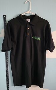 Original 2003 Authentic Hulk The Video Game Promo L Embroidered Collared Shirt