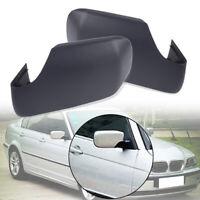 Left+Right Side Mirror Cover Caps Set For BMW E46 E39 325i 330i 525i 530i 540i