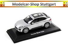 2015 PORSCHE MACAN TURBO rhodium métal argenté - WELLY 1:43 - MAP01995051 NEUF