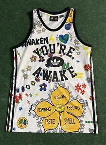 Adidas Originals You're Awake Pharrell Williams Doodle Tank Jersey Sz M