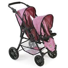 Bayer Chic 2000 Tandem-Buggy Twinny Jeans pink NEU