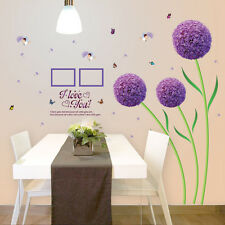 DIY Mural Art Romatic Loving Flower Removable Home Decor Wall Sticker Room Decal