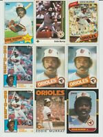 61 Baltimore Orioles Baseball Card Lot Jersey Ripken Murray Schilling Palmer