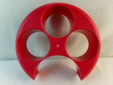 Meal Measure Food Portion Control 4 Section Plate Portion As in Nutrisystem Red