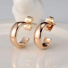 18k Yellow Gold Filled Fashion Earrings 14MM Womens earstud 5mm GF Jewelry HOT