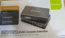 IOGEAR GCE500U USB VGA KVM Console Extender New