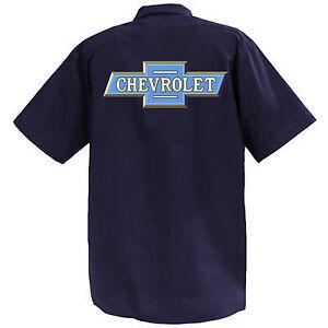 Chevrolet  - Mechanics Graphic Work Shirt  Short Sleeve