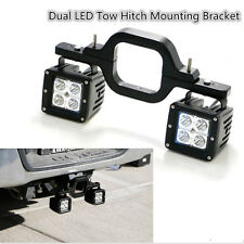 Tow Hitch Mounting Bracket Off-Road Dual LED for Truck SUV Trailer Reverse Lamp