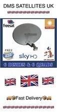 🇬🇧6 X Satellite Dishes & 6 X Quad Lnbs & Fixings Only🇬🇧