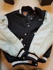 XL Game Sportswear Varsity  Wool Jacket Black GRAY