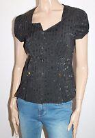 VALLEYGIRL Brand Black Short Sleeve Jacket Top Size 10 BNWT #SU77