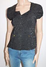 VALLEYGIRL Brand Black Short Sleeve Jacket Top Size 10-S BNWT #SU77
