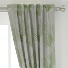 """Foliage Tropical Leaves Palm Tree Botanical 50"""" Wide Curtain Panel by Roostery"""