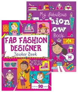 Fashion Sticker Book - A4 Girls Fun Kids Books Show Activity Stickers Dress Up
