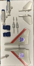 Vintage G1 Transformer Starscream Parts, Fists, Front And Rear Wings, Missiles.