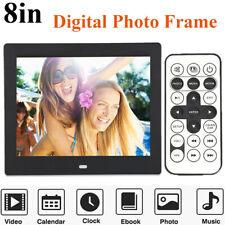 8 inch HD Digital Photo Frame Clock MP3 MP4 Movie Player + Remote Control Gift