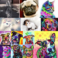 5D DIY Cut Cat&Dog Diamond Painting Embroidery Cross Stitch Kits Craft Decor lot