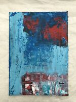 HASWORLD- ORIGINAL ACRYLIC PAINTING CANVAS Abstract Expressionism Kunst Artist