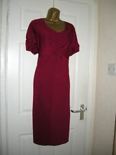 30 PLUS SIZE DEEP RED MIDI DRESS INNER CONTROL RETRO 70S 80S PARTY WEDDING